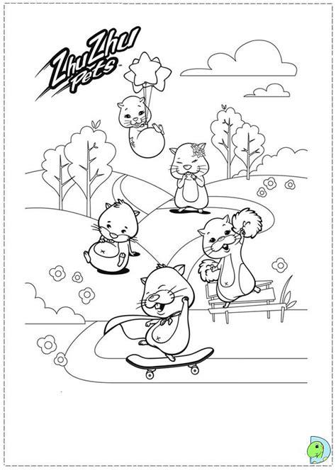 Zhu Zhu Pets Coloring page  DinoKids.org
