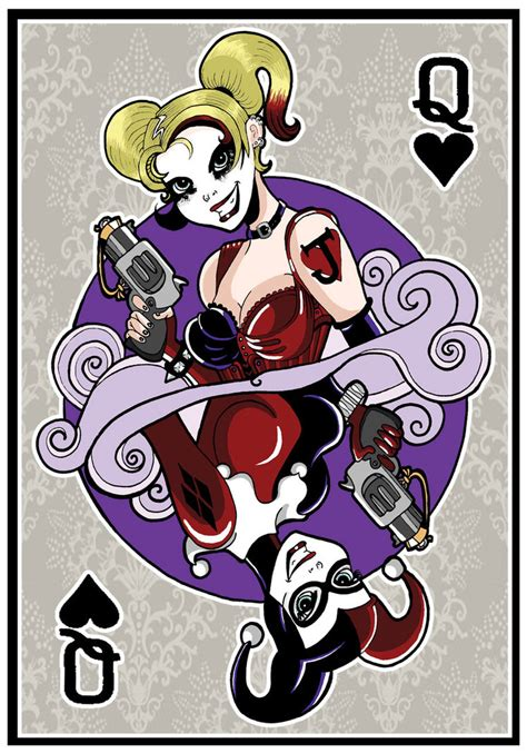 harley quinn playing card by anastasiacatris on deviantart