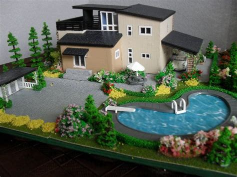 miniature homes models modern miniature model house with property ho scale ho