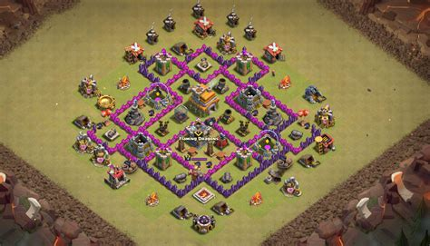 coc town hall 7 war bas best base for town hall 7 clash of clans th7 coc best base