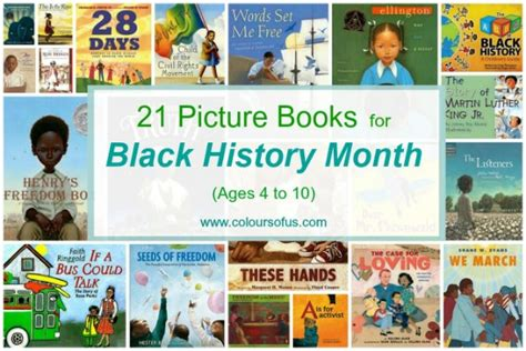 history picture books 21 picture books for black history month