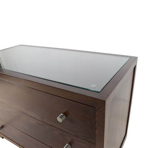 dresser top storage 89 off custom custom glass top wooden dresser storage