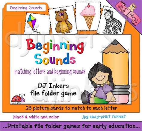 printable letters and sounds games a printable file folder game to teach beginning sounds