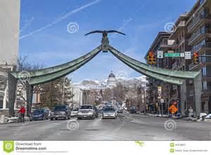 Electric Car Company Midvale Utah Eagle Gate In Salt Lake City Utah Editorial Photography