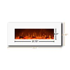 stanton 50 quot wall mount electric fireplace from menards