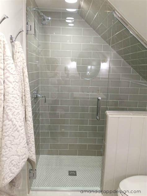 bathroom slope subway tile on slanted wall google search bathroom