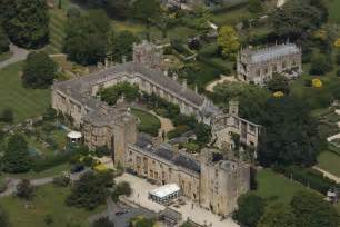 Formal Garden Layout - aerial photographs of sudeley castle gloucestershire england