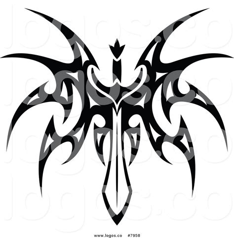 sword black and white clipart 35