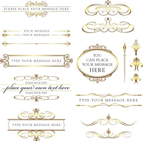 Clipart Wedding Embellishments by Word Clip Wedding Embellishments Calligraphy Vintage