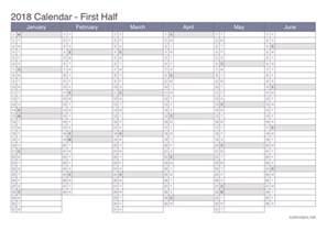 Calendar 2018 Office 2018 Printable Calendar Pdf Or Excel Icalendars Net