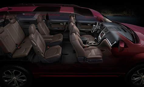 gmc acadia interior photos car and driver