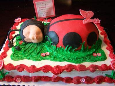 Ladybug Cake Baby Shower by Flower Garden Baby Shower Cakes Butterflies And Ladybugs