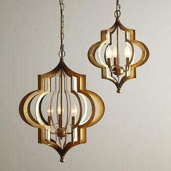 Quatrefoil Ceiling Light Gold Quatrefoil 3 Light Pendant L