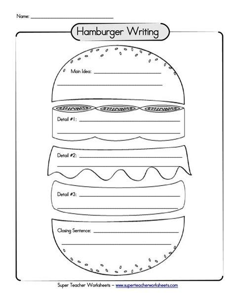 paragraph pattern approach activities hamburger paragraph organizer language arts pinterest