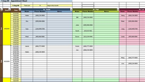 Excel Spreadsheets Templates Spreadsheet Templates For Access Appointment Scheduler Template