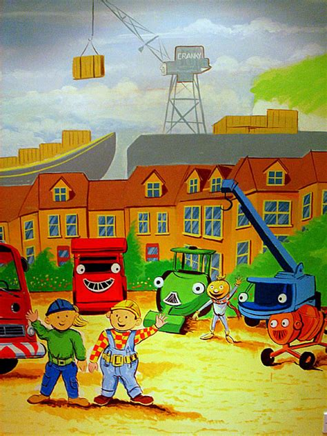 builder engine themes childrens murals london wall paintings for childrens