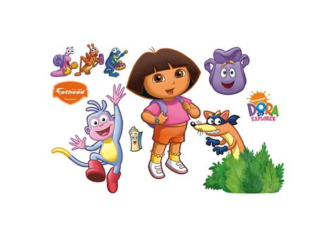 Dora Wall Stickers dora backpack amp boots wall decal shop fathead 174 for dora
