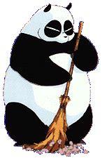 kumpulan  gambar animasi panda bergerak unik lucu