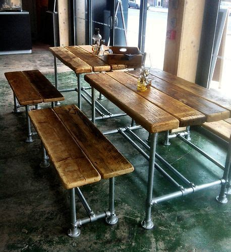 small industrial dining table small industrial factory style dining table and benches