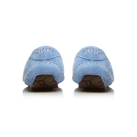 blue ugg slippers ugg ansley slippers in blue lyst