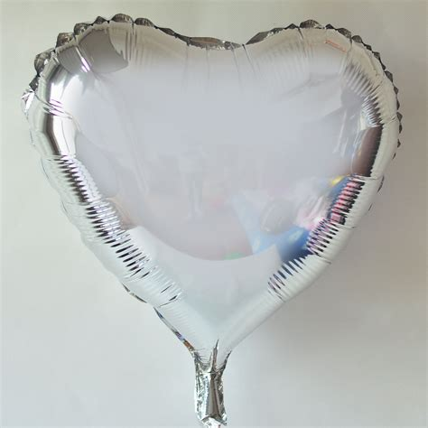 Silver Foil Balloon U big foil balloons cheap 36heart shaped foil balloons