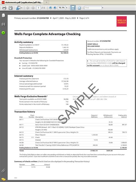 bank statement template cyberuse