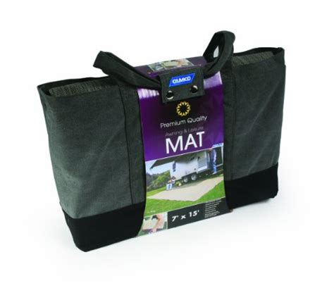 quality awning camco 42812 premium quality awning and leisure mat 7 x 15 gray rv parts zone