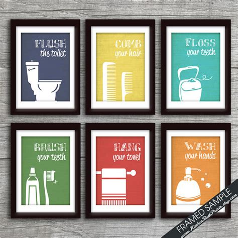 funny bathroom prints funny bathroom prints set of 6 art print featured in