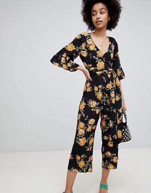 Jsjt217120770144 Jumpsuit Zara Jumpsuit Floral Beige jumpsuits playsuits unitards asos