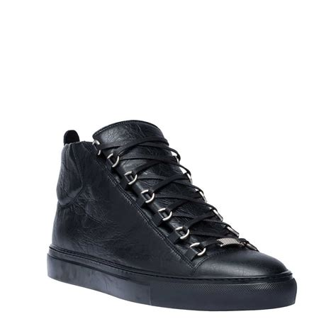 balenciaga black sneakers wad40 1000 b black balenciaga arena high sneakers