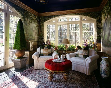 garden sun room at aurbach mansion eclectic living room bridgeport by the interior edge