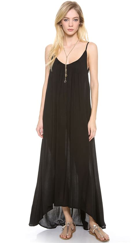 dress cover up mikoh swimwear biarritz cover up dress in black lyst