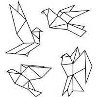 Dessin Oiseau Origami by Origami Birds Vinyl Wall Decal By Radraspberry On Etsy