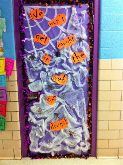 halloween themes for red ribbon week halloween spider red ribbon week door decorations red