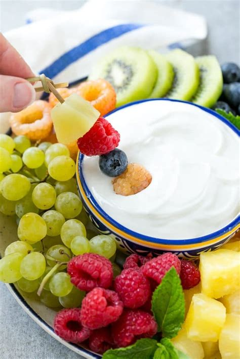 cream cheese fruit dip dinner at the zoo