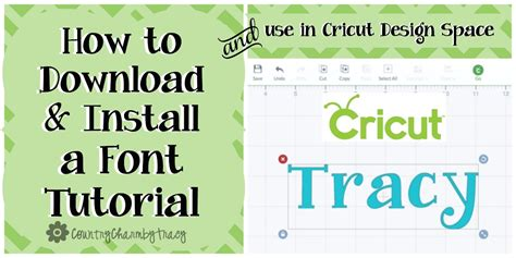 how to use spaces how to install a font and use in cricut design