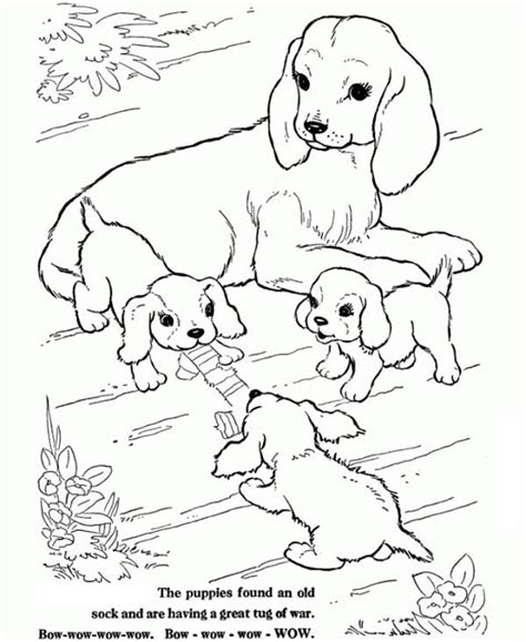litter of puppies coloring pages this dog is watching over her puppies coloring page