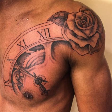 mens rose tattoo designs shoulder tattoos for designs ideas and meaning
