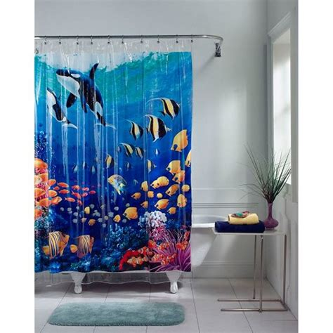 underwater shower curtain underwater shower curtain baby pinterest