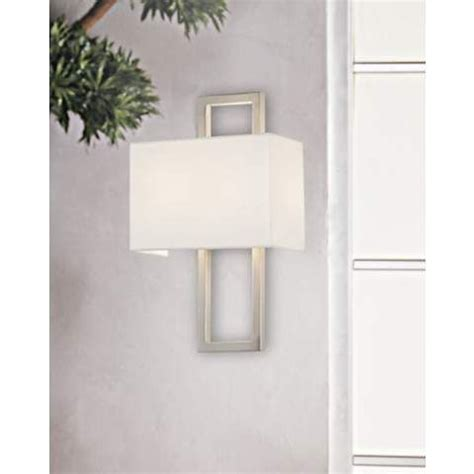 Bathroom Sconce Possini Euro Brushed Steel 15 1 2 Quot H Rectangular Wall