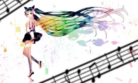 Vocaloid Anime Girl Backgrounds Presnetation Ppt Backgrounds Templates Anime Template For Powerpoint