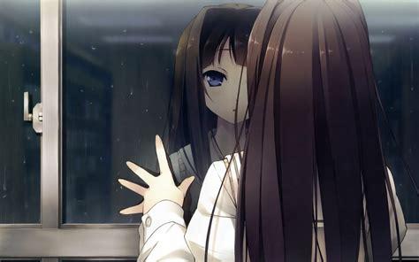 anime girl in the rain wallpaper sad anime girl crying in the rain alone hd wallpaper gallery