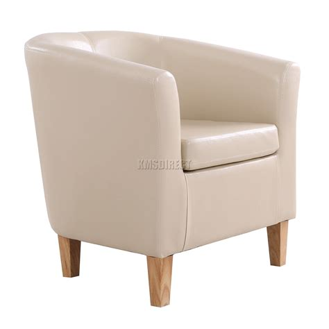 ivory armchair foxhunter ivory faux leather tub chair armchair dining