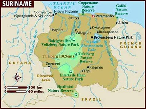 surinam map suriname maps printable maps of suriname for