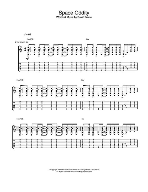 Attractive Guitar Chords Space Oddity Sketch - Beginner Guitar Piano ...