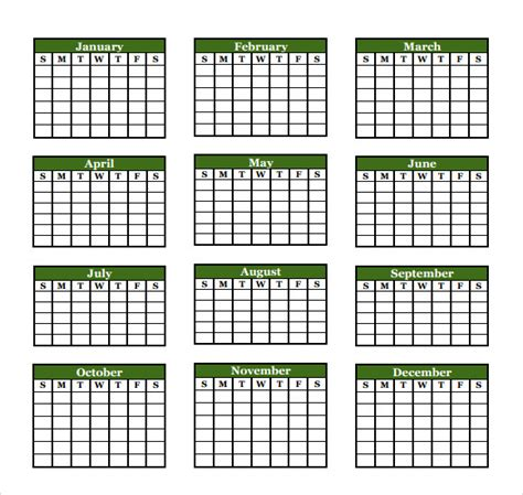 9 Microsoft Calendar Templates Download For Free Sle Templates Free Microsoft Calendar Template