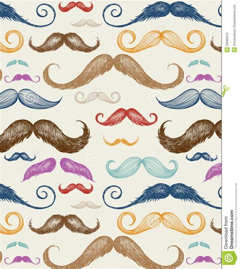 moustache stock images royalty free images vectors vintage mustache seamless pattern royalty free stock image image 33586016