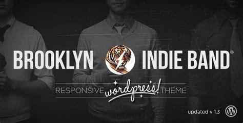 brooklyn theme blog excerpt brooklyn indie band responsive wordpress theme by