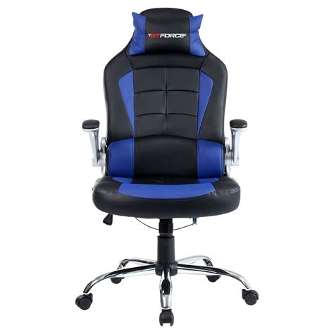 Gtforce Blaze Blue Reclining Leather Sports Racing Office Desk Chair For Gaming