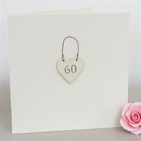 60th handmade birthday card by chapel cards